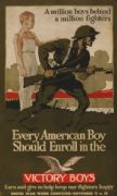 Vintage War Poster very American boy should enroll in the Victory Boys